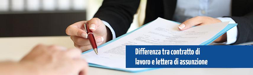 Differenza tra lettera di assunzione e contratto di lavoro