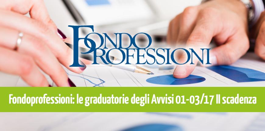 Fondoprofessioni Avviso 1/2017: progetti finanziati