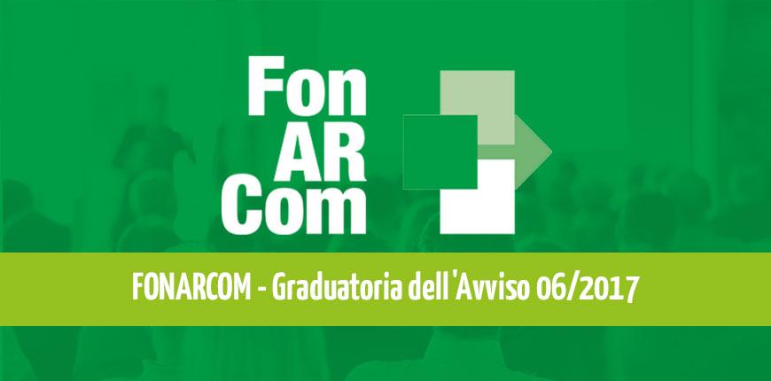 FonARcom Avviso 6/2017: pubblicata la graduatoria