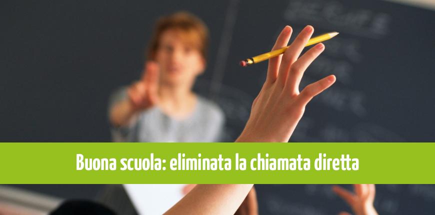 Buona Scuola: eliminata la chiamata diretta dei docenti