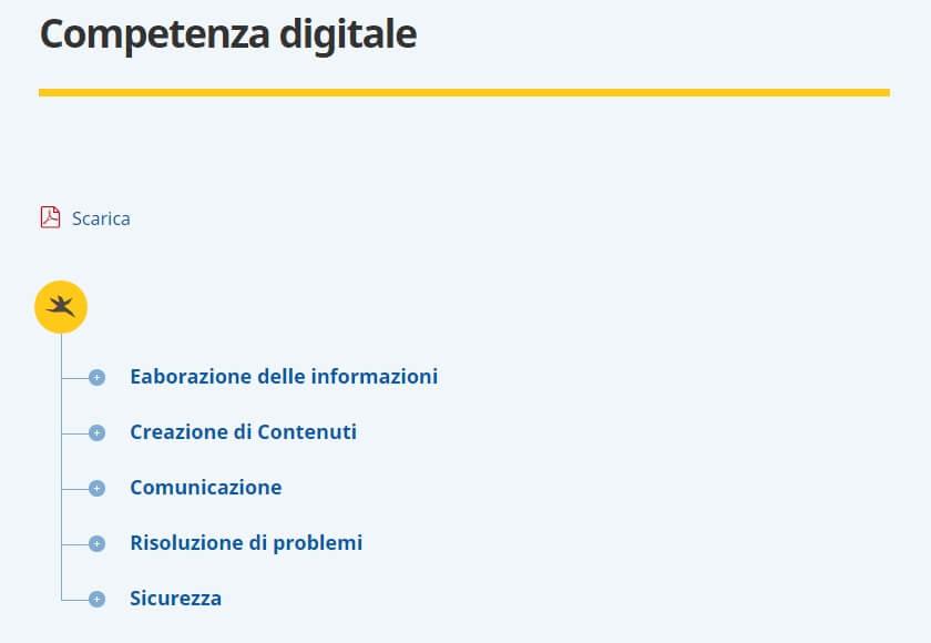 competenze digitali curriculum europeo